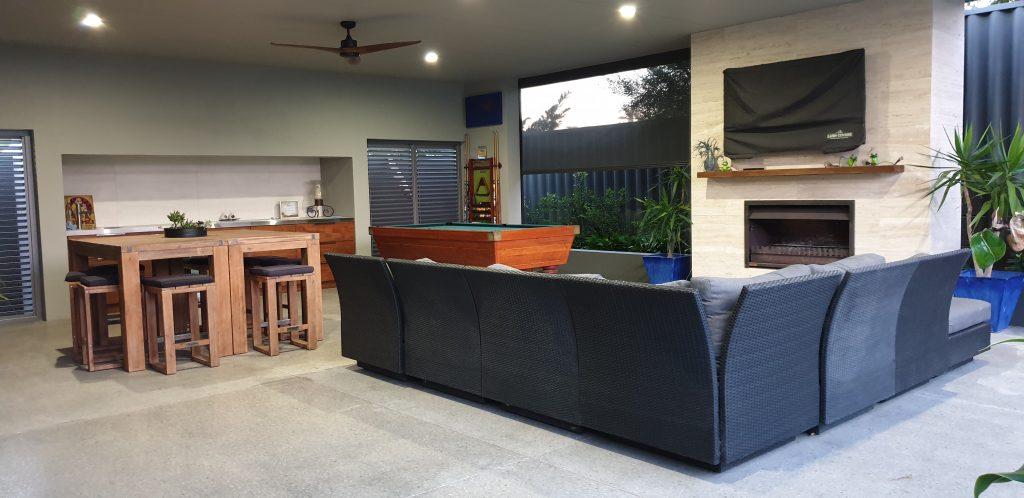 Open outdoor living spaces